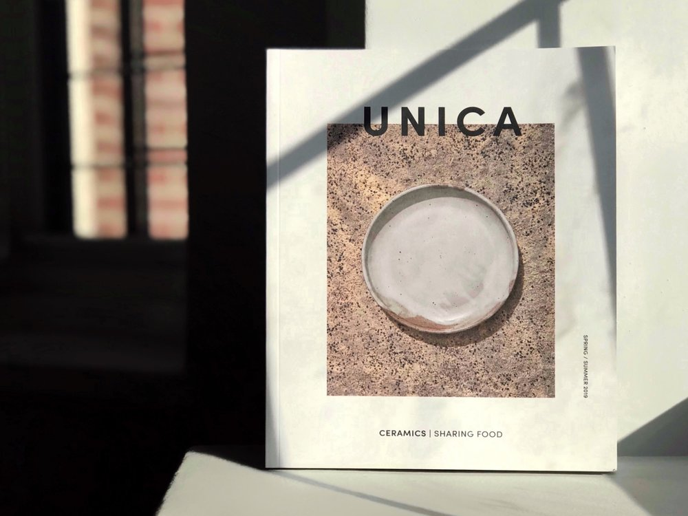 Unica Magazine - Issue 1 is a 100-page collection of stories, photographs, poems, recipes, and art exploring the relationship between ceramics and sharing food.Reflecting on my upbringing, I express why the beauty of everyday objects is essential to the lifestyle choices I lead. I discuss being raised by a single teenage mother, and how it allowed me to appreciate the quality of everyday art and design in my adulthood.