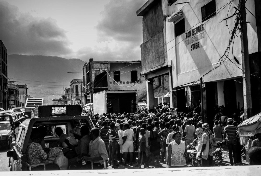 Downtown Port-au-Prince.
