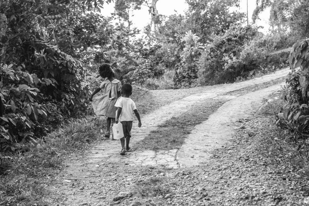 The long walk home.
