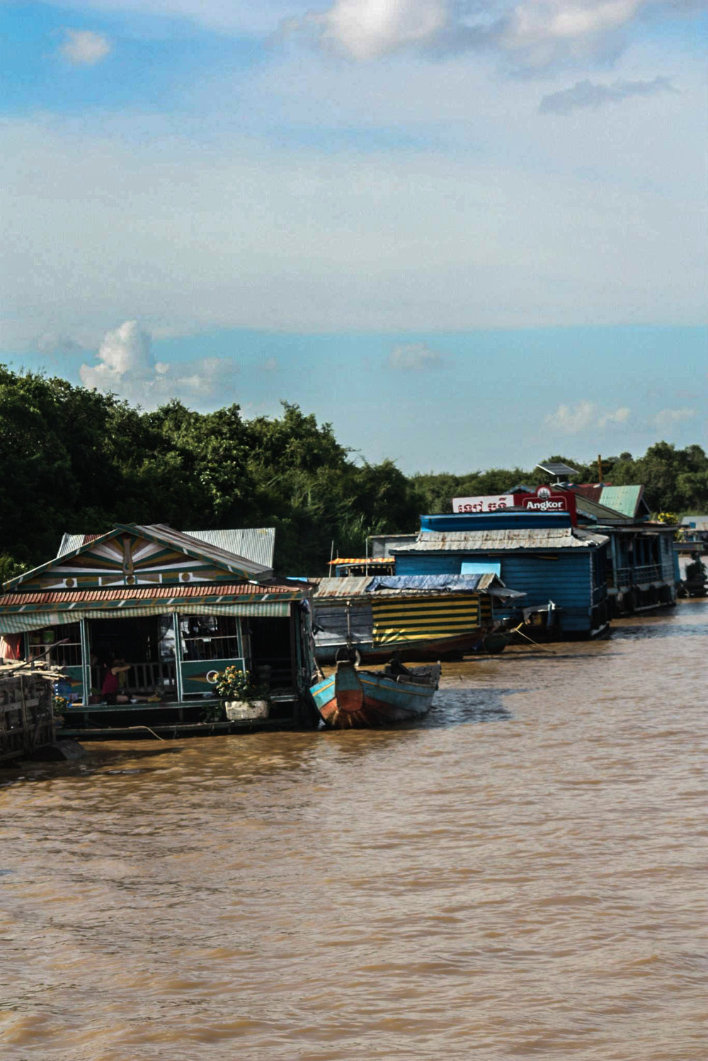 Floating village located in one of the northern provinces outside of Siem Reap.