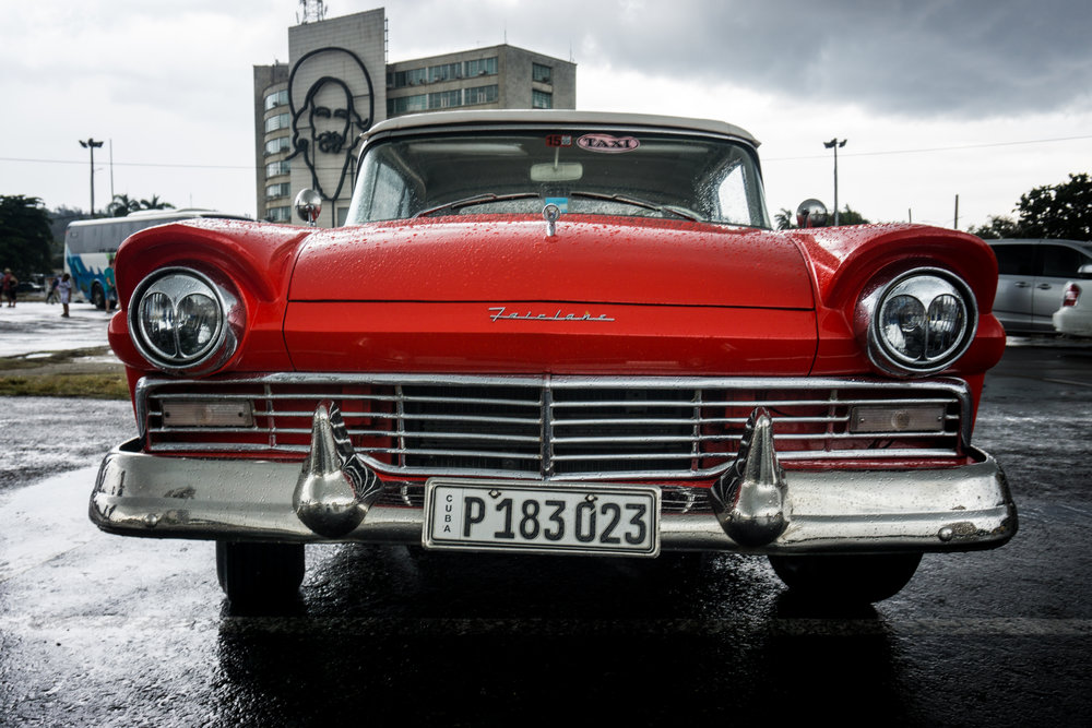 One of the many vintage cars that serve as taxis throughout Havana.