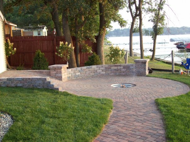 Brick Patio/Firepit