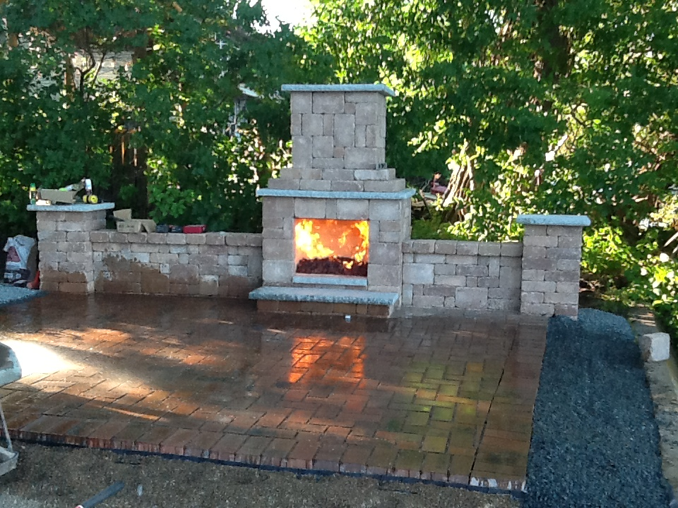 Fire Place and Patio