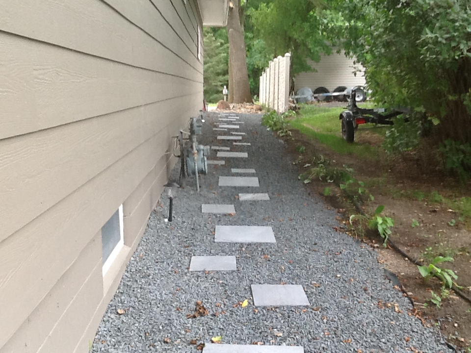 Side of hosue walkway