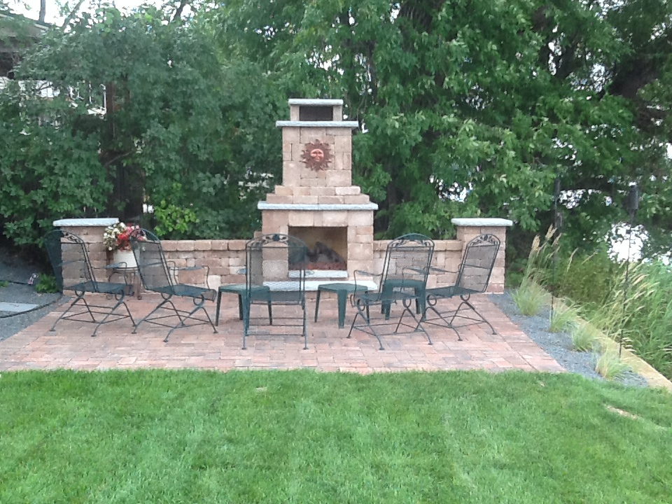fire place and patio finished