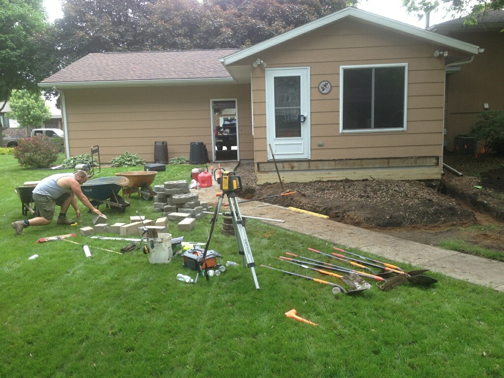 backyard transformation u2014 smith lawn and landscape