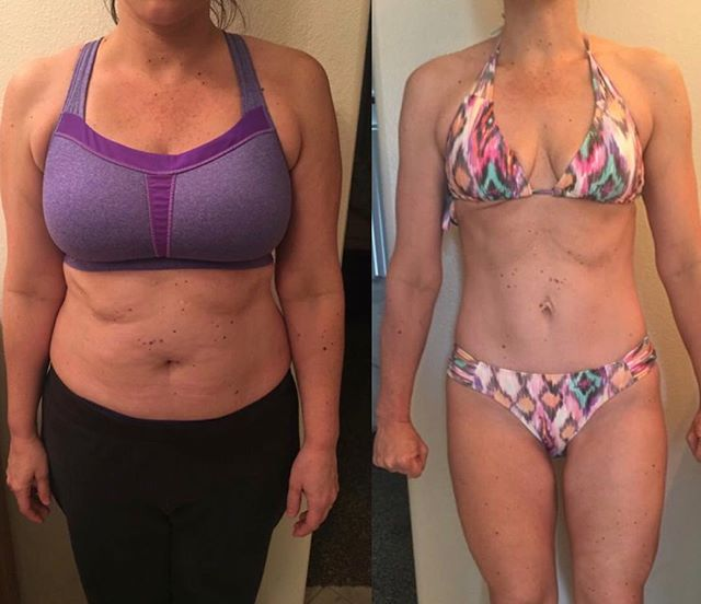 """My beautiful online client is down FORTY EIGHT POUNDS on my Lean Like Lia program 🙌🏼 She's lost 28 inches and 9.5% body fat 💪🏼 #transformationtuesday . Doesn't she look absolutely ahhhmazing?! 😍 What an inspiration this hot mama of two is 🔥🔥🔥 So happy for you, girlfriend! 👊🏼 Working with you is the best - I've loved getting to know you and having a front row seat to your success 🙌🏼 . #testimonial """"This is the girl that wouldn't wear a sleeveless top in 100 degree weather or dare to wear shorts in the summer. And here are some afters...this girl is buying all of the tank tops and just bought her 4th pair of shorts (probably the first time that's happened in 10 years)"""" #nonscalevictories 💗 #leanlikelia #slaywithLK👯♀️ . . . . . #liakinn#ellekayfit#fatloss#nutritionplan#iifym#macros#macrotracking#flexiblediet#funfoods#fatlossmadefun#personaltrainer#homeworkouts#strengthtraining#hiit"""
