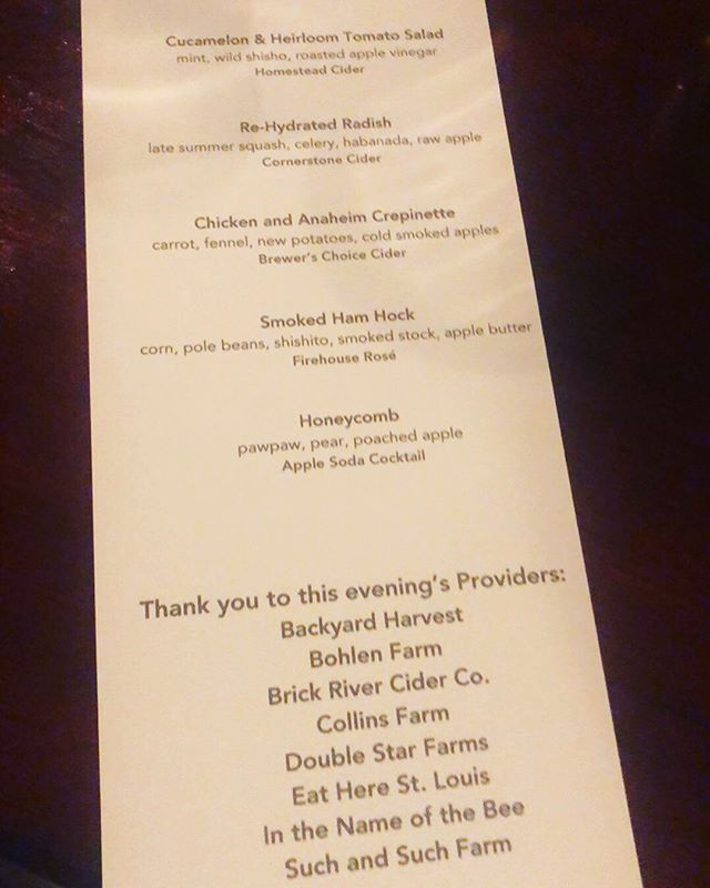 Thank you to everyone that came out and supported last nights #ProvidersSTL dinner. Was awesome to meet so many new people who are interested in learning where our food comes from and how important (and beneficial for everyone) it is to #eatlocal #drinklocal #shoplocal 📸 @eddiegarnica