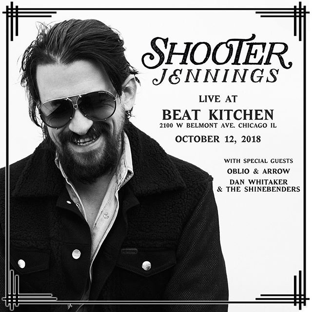 We are thrilled to be heading back to the Beat Kitchen to open up for Shooter Jennings on 10/12!! Tickets available now! #oblioandarrow #beatkitchen #shooterjennings #chicago #october12 . . . . . #livemusic #shows #shooter #ticketsavailable #indiemusic #countrymusic #chicagomusic