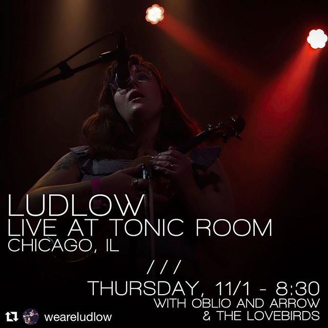 Looking forward to getting back up to the @tonicroomchi this Thursday to share the stage with Ludlow and The Love Birds! #oblioandarrow #originalmusic #livemusic #chicago #tonicroom