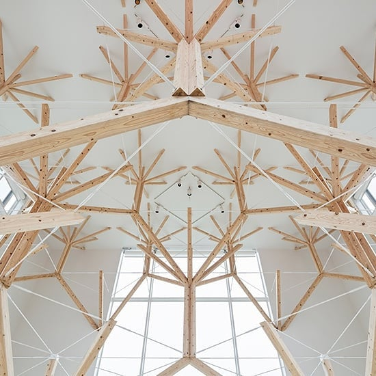Recently completed chapel featuring an interior structural system based on fractal geometry by Yu Momoeda in Nagasaki, Japan . . . #architecture #interiordesign #design
