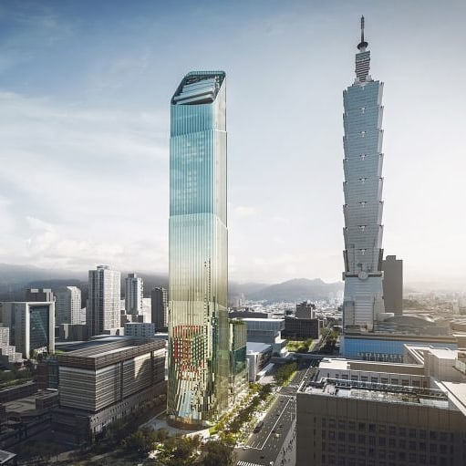 Designed by Antonio Citterio Patricia Viel and Partners, this new addition to Taipei's skyline will feature curved edges and an angled tip and grooved green glass facade in a reference to Chinese bamboo shoots and the ancient columns of Greece . . . #architect #architecture #design #taipei