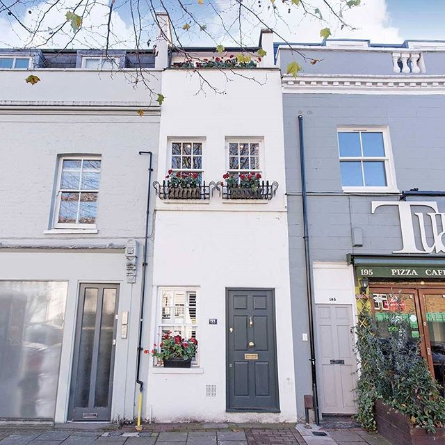 At 7ft 7in wide, one of London's skinniest homes hits the market at £1m . . . #architecture #realestate #london