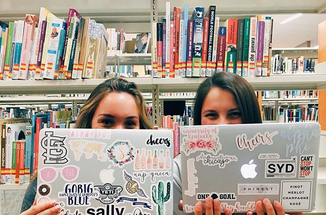 finals week isn't so bad when we have sisters to study with! #UKAPHI ✨💕📚