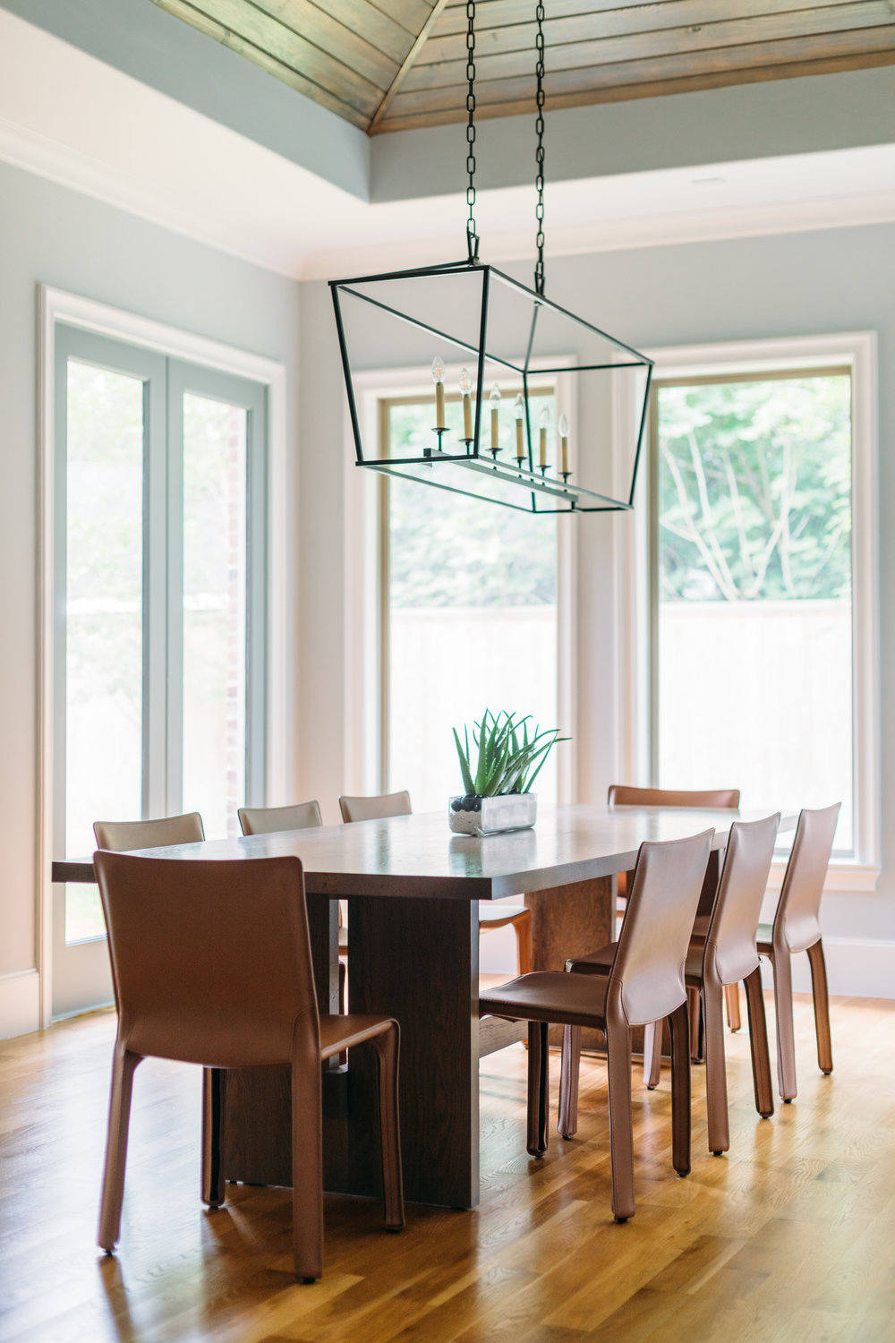 CEH Custom bespoke dining table in Oak for Layne  Photo Credit: Kelly Christine Sutton