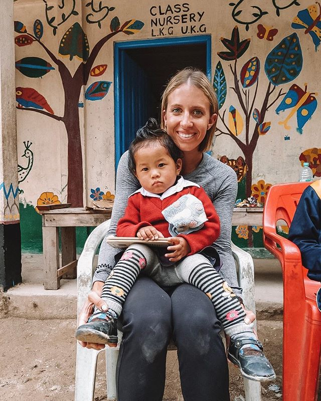 CUDDLES! An extra special benefit of our #GTEF trips! ❤️❤️ One of our gorgeous directors Sophie, with a cutie pie from Kolbung school.