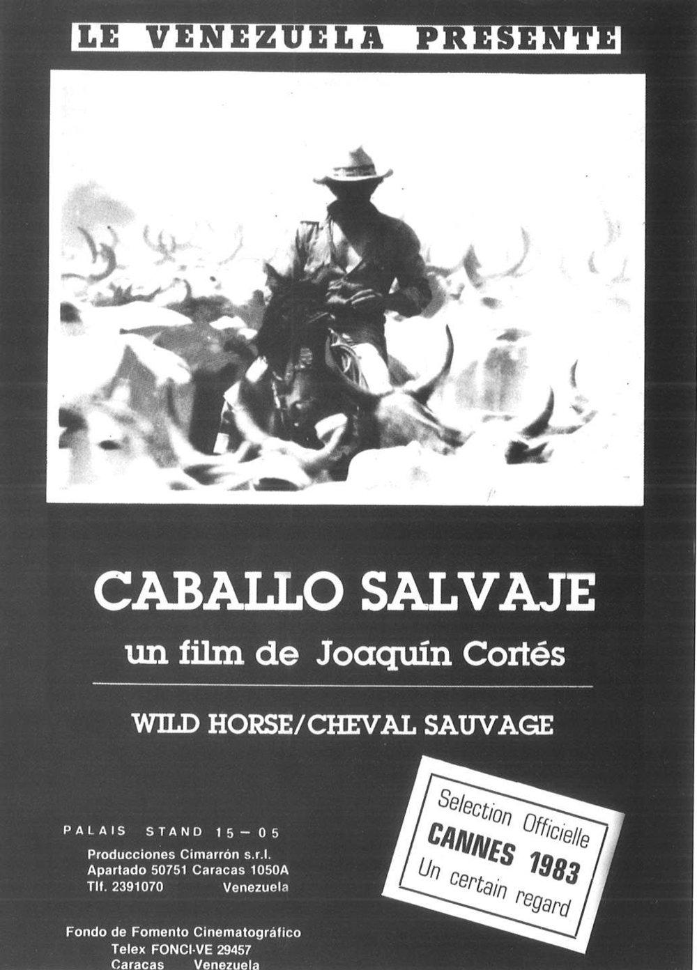 Aviso de  Caballo Salvaje  para el Festival de Cannes