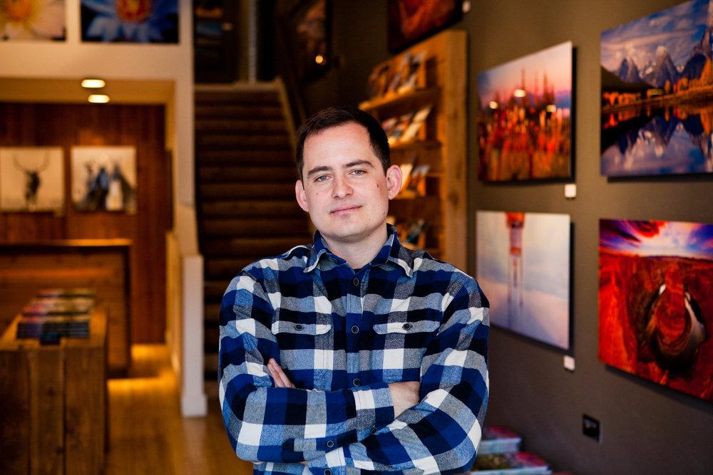 Jeffrey Murray, 32, at his studio on Minnesota Ave