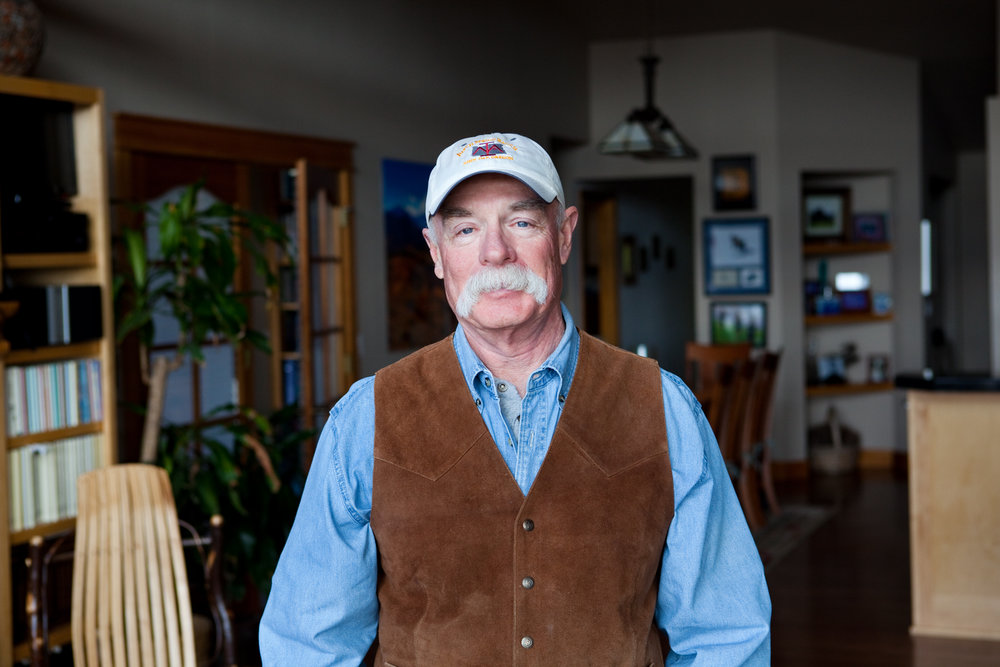 Rod Ray, 60, at his home in Bend