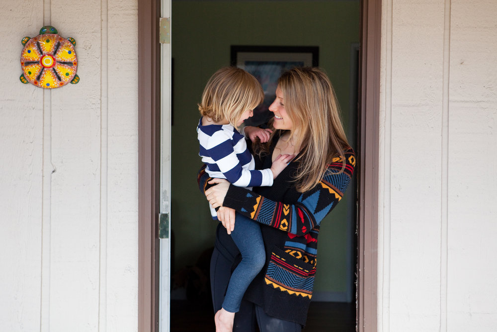 Libby Nierman, 33, with daughter Leota, 4, at their home