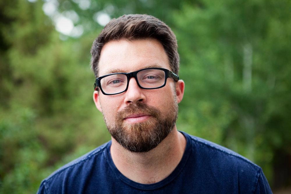 David Young, 35, at his home