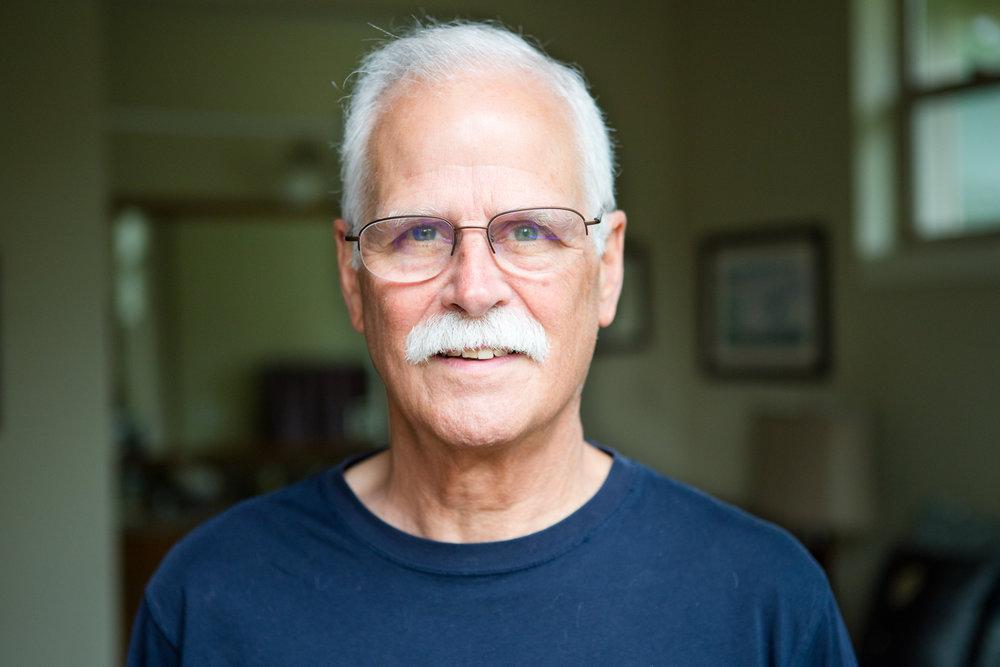 Dan Duggan, 68, at his home