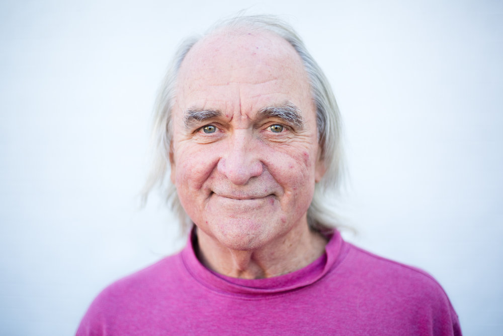 Larry Kogovsek, 63, outside the Cascade Peer Support Center