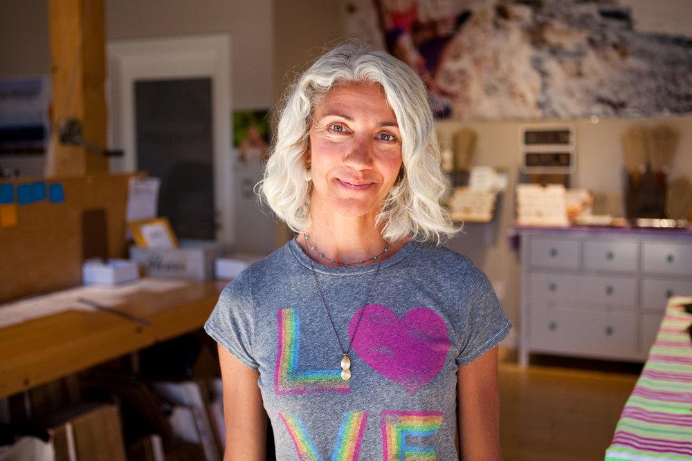 Bronwen Lodato, 44, in her studio