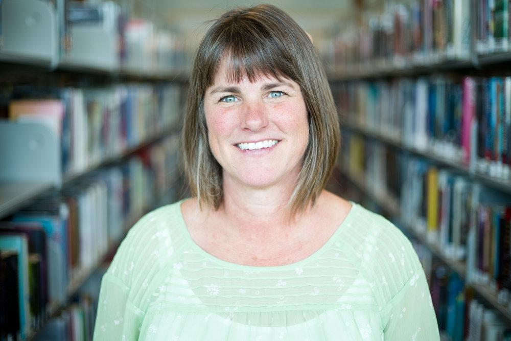 Liz Goodrich, 52, at the Deschutes Public Library