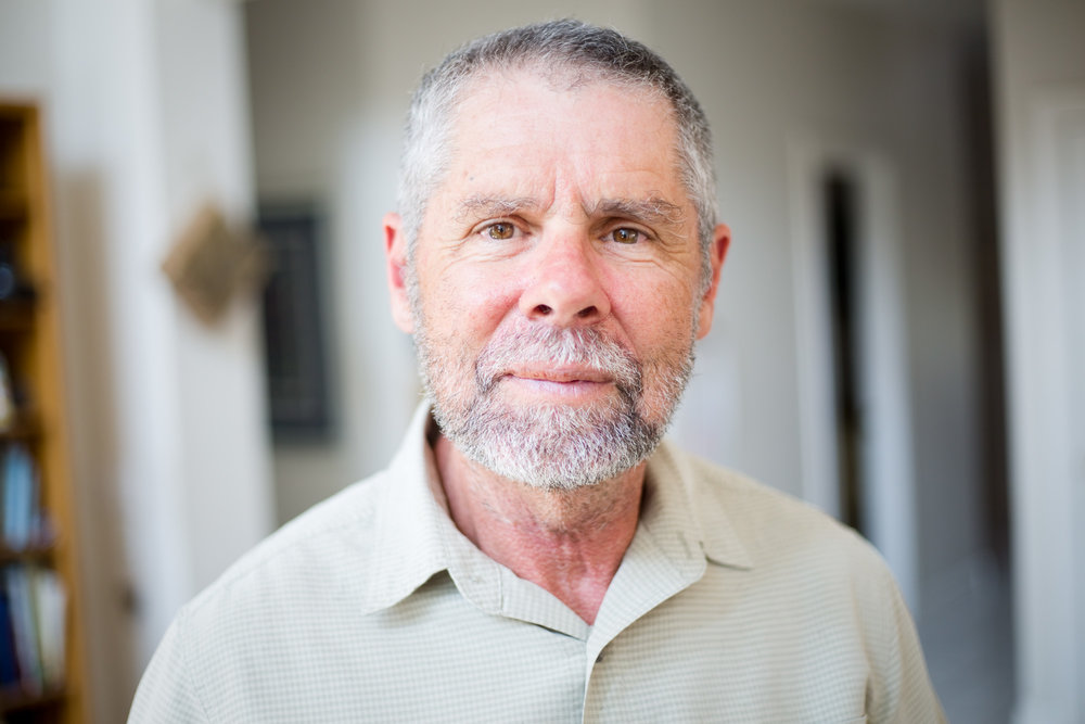 Daniel Murphy, 66, at his home