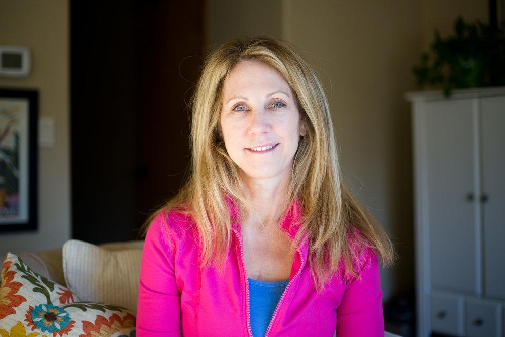 Elaina Love, 53, at her home
