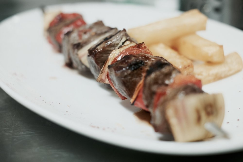 Brochetta de Ternera // Beef and Vegetable Skewer