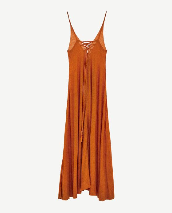 LINEN DRESS - ZARA