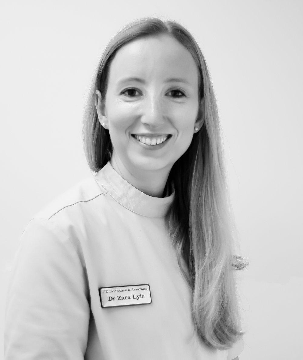 Dr Zara Lyle BDS  (Univ. of Glasgow)