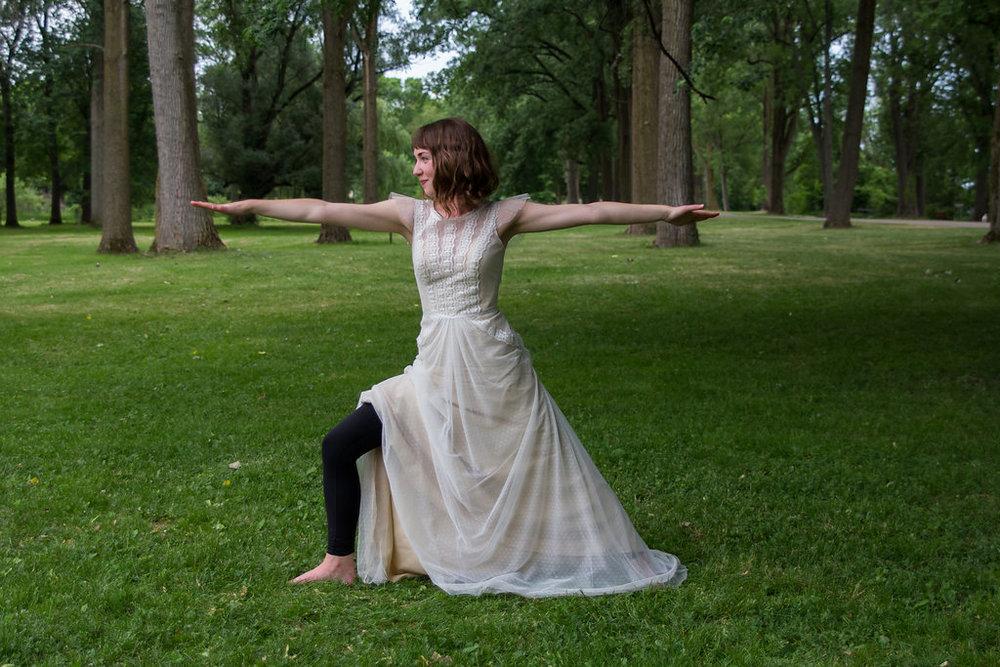 Wedding day yoga anyone? Photo credit: Veronica Kirin