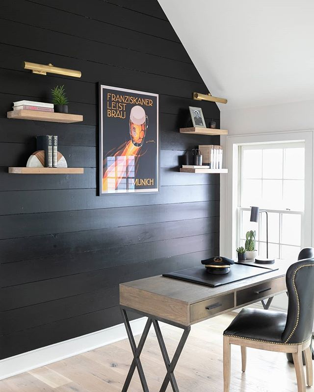 Showing off our true @danalynchdesign style in this home we designed and furnished through our bspok furnishings program for a fun client - BLACK is always a good idea... And can we discuss those @visualcomfortco picture lights?Great job, Audrey! 🖤🖤//📷: @jashleyphotography