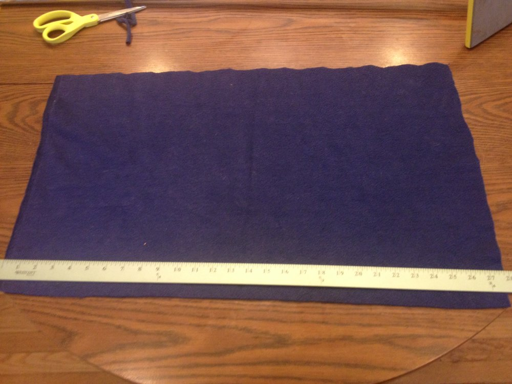 Navy fleece scrap