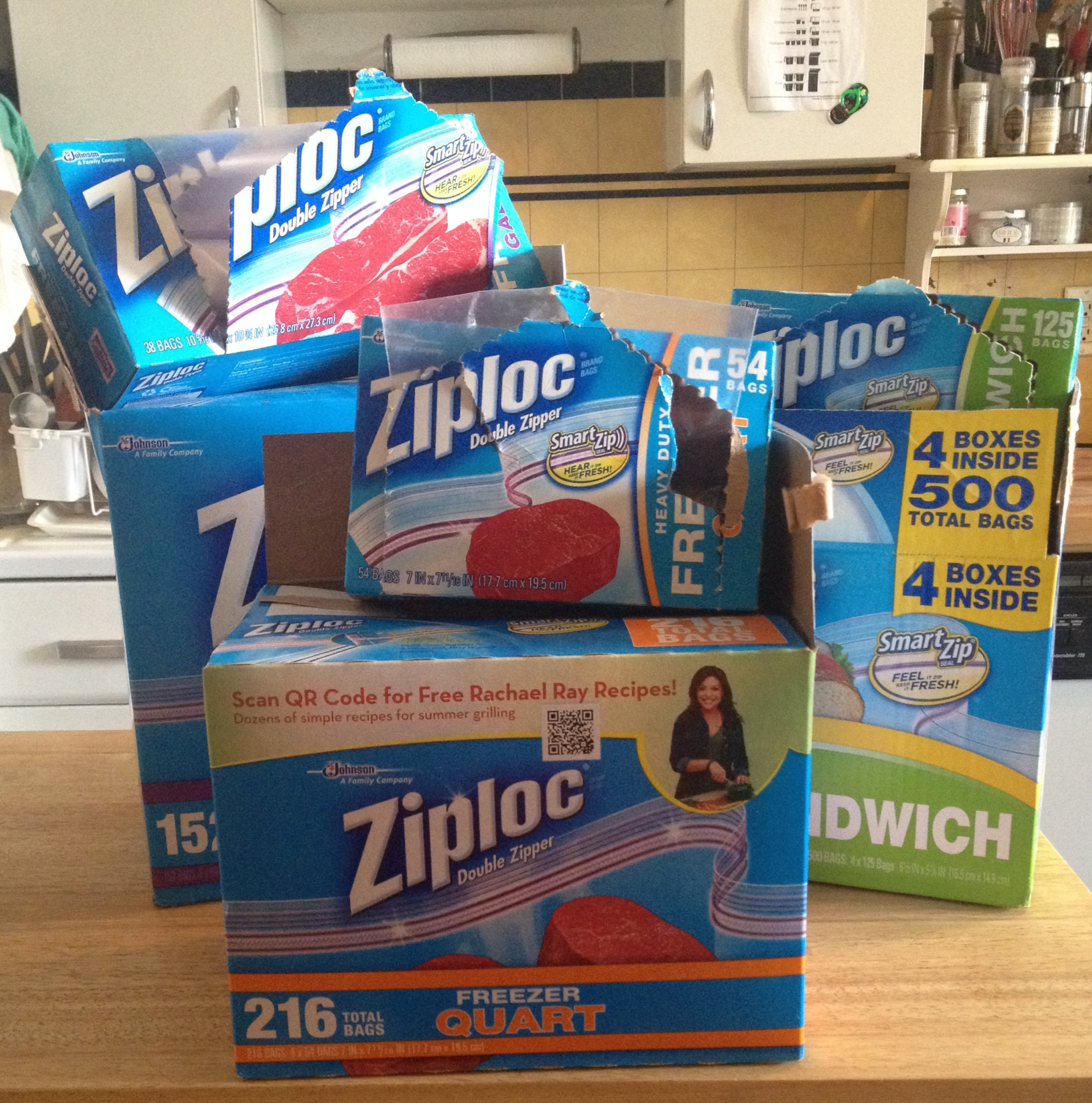 Seriously, we weren't kidding about using a few too many Ziploc bags (also, it's hard to resist a Costco deal).