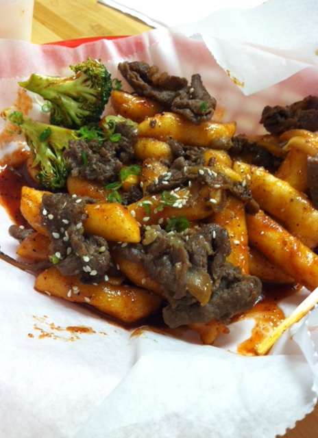Dukbokki with Bulgogi at Dak