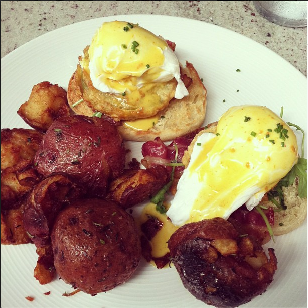 Brunch at Gather - these might be Kristl's favorite potatoes