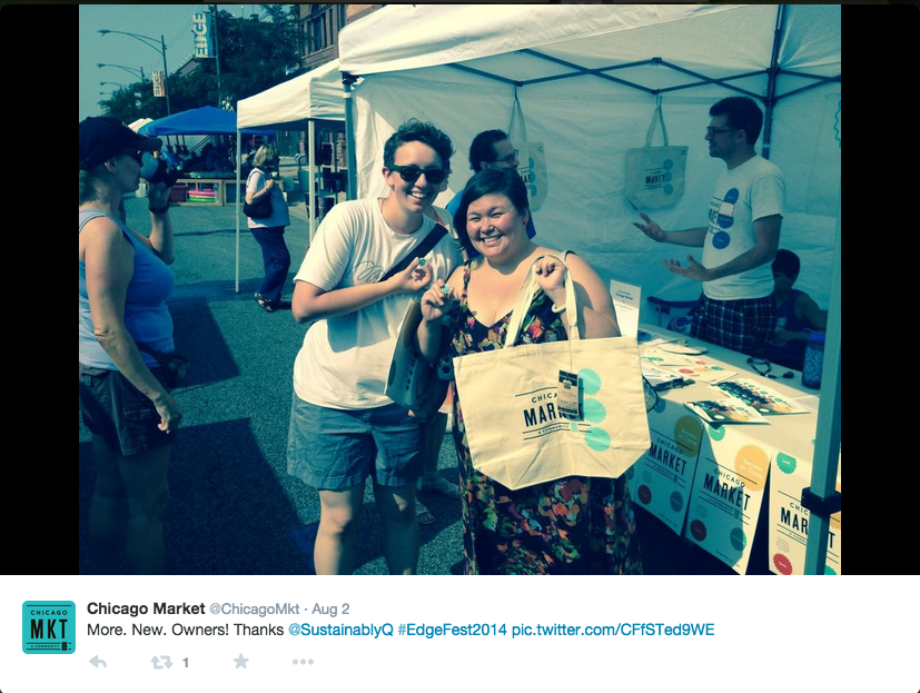 Chicago Market's photo tweet of the day we joined.