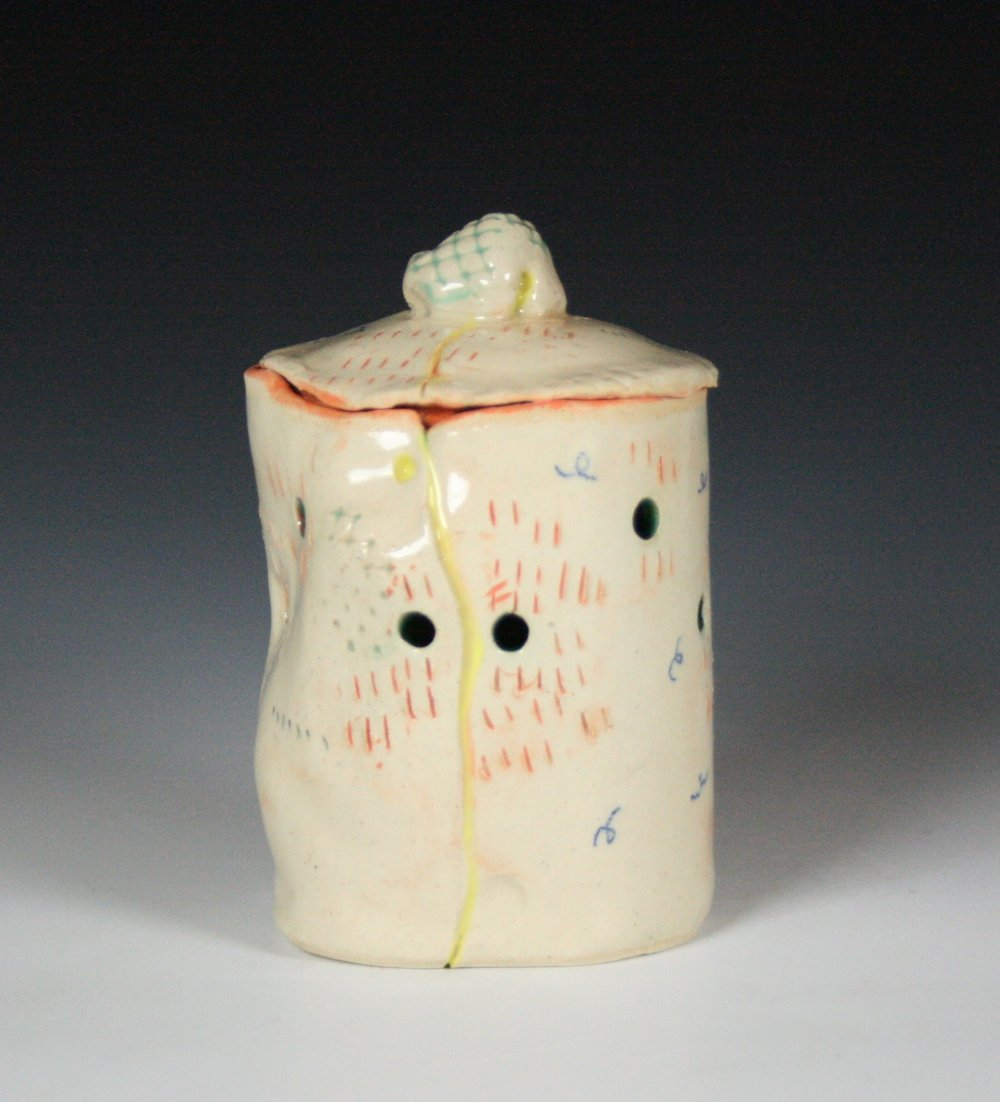 Garlic Jar , Stoneware, Cone 5