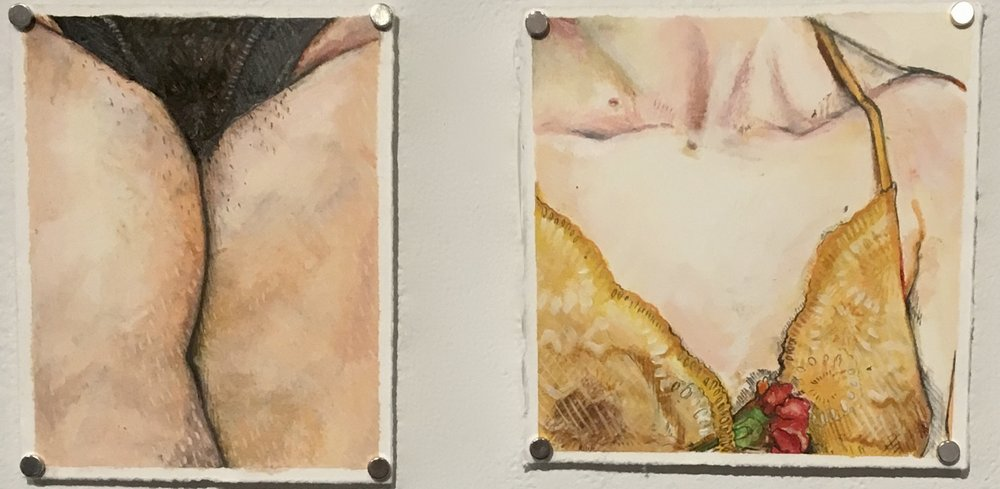 For Me (but maybe you) , oil paint, pastel, and graphite on oil paper