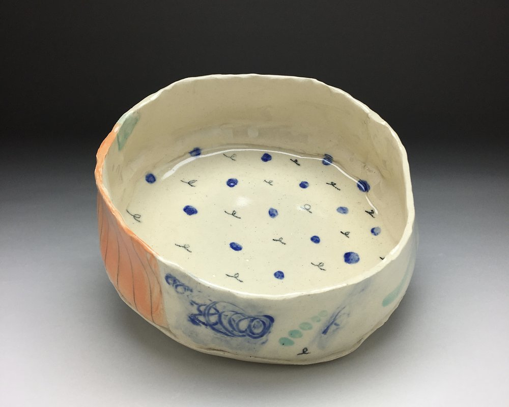 Polkadot Bowl , inside detail