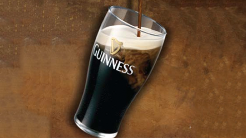 It's a common misconception that Guinness is black. Hold it up to the light and you'll see it's actually a deep red. As the saying goes, there's a ruby in every glass. Brewers roast the barley longer than usual (they don't burn it — another myth) and it's the long roast that gives Guinness its color. Download the PDF to keep reading …