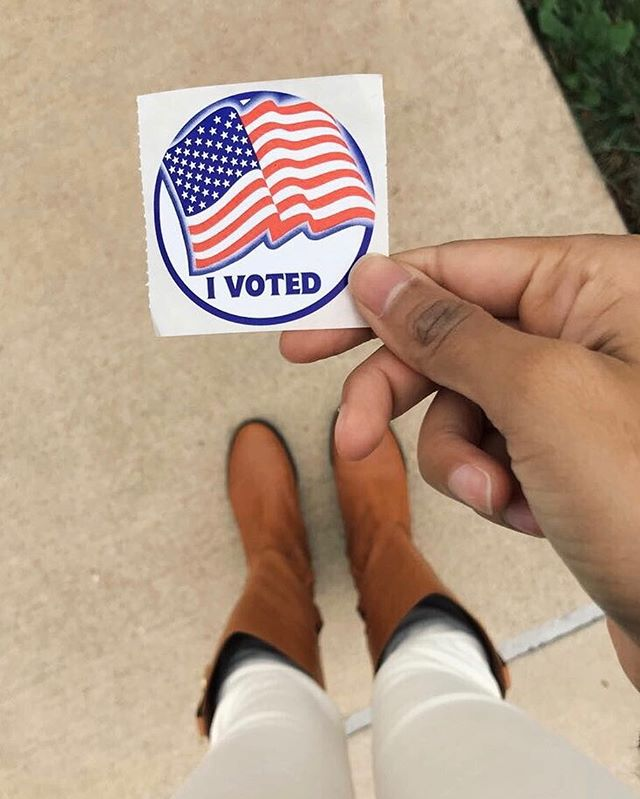Civic Duty ✔️ It's Election Day, don't forget to get out there and vote, polls close at 7pm! 💙🇺🇸❤️ • • • • • #electionday #voting #govote #vademocrat #democrat #virginiaelection #stateelection #rockthevote #civicduty #usa #virginia #virginiablogger #dmvblogger #millennial #millennialgirl #millennialwomen #sheshouldrun #tuesday