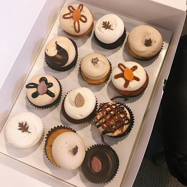 Happy hump day! Giving into all the dessert cravings. 🍁🍂 • • • • • • • #georgetowncupcakes #fallcupcakes #fallbox #cupcakes #dessert #foodie #dcfoodie #dcfoodporn #dccupcakes #georgetown #georgetowndc #washington #washingntondc #dc #thedistrict #dcblogger #dmvblogger #igdc #dciger #igfood #igfoodie #acreativedc #fall #autumn #fallindc #millennial #millennialblogger