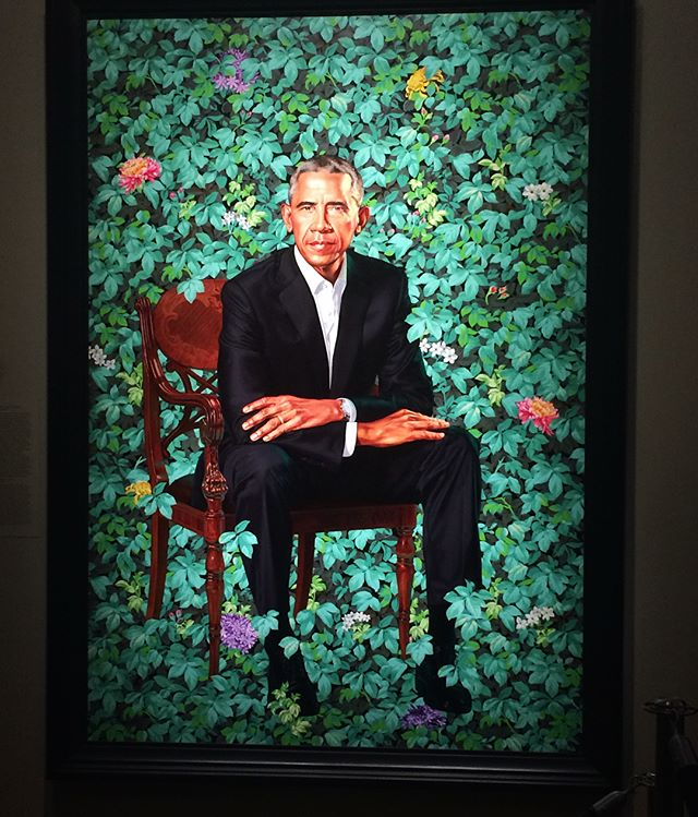 Stopped into the National Portrait Gallery to visit MY President. Anyone else visit the exhibit? 🖼 • • • • • #portraitgallery #president #barackobama #presidentobama #michelleobama #obama #portrait #presidentialportrait #pleasecomeback #washington #washingtondc #dc #thedistrict #downtowndc #galleryplacedc #chinatowndc #igdc #acreativedc #dcart #millennialblogger #dcblogger #collegeblogger #dmvblogger #lifestyleblogger