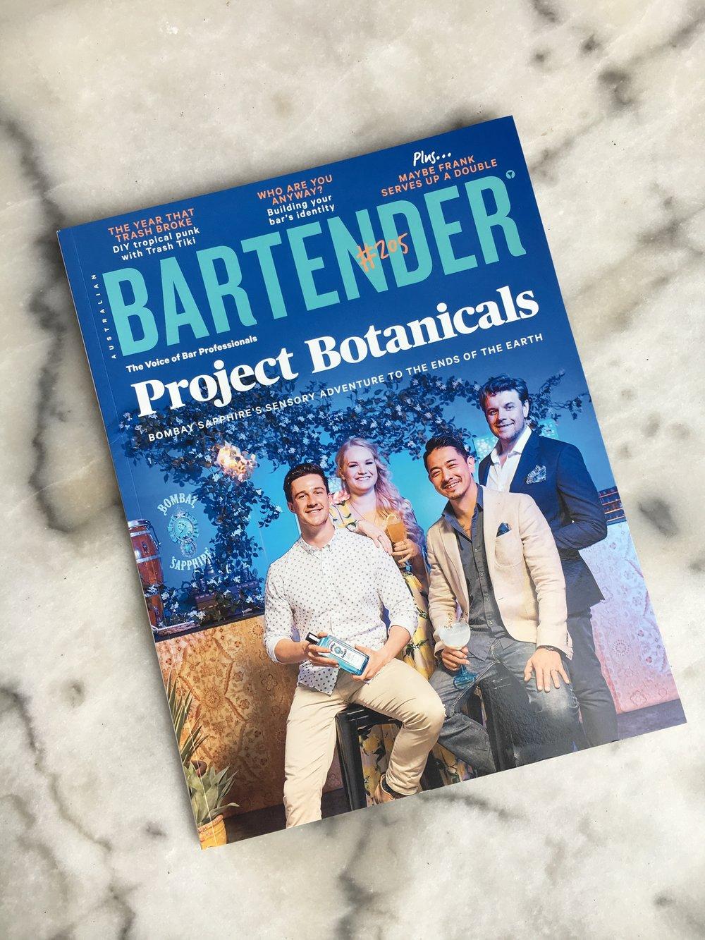 Kurtis here featured on the cover of Australian Bartender Magazine 2018.