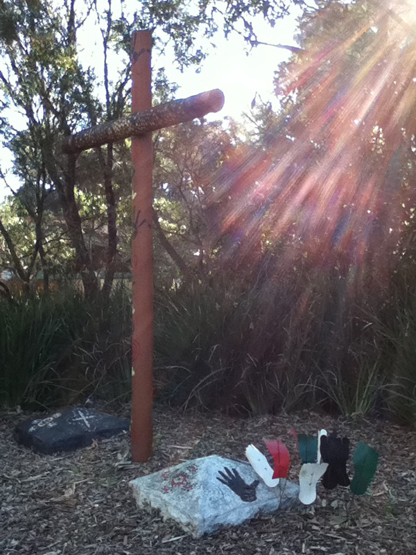 Photograph by Stephen Burns. Cross of reconciliation, United Theological College, North Parramatta .